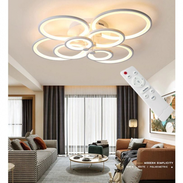 Lustra LED Circle Design 8 Cercuri cu telecomanda [1]